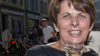 Die frisch gewählte neue Stadtpräsidentin Jolanda Urech feiert ihren Erfolg. Mathias Marx