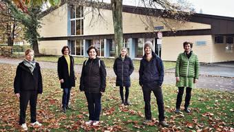 Der Kern der Petitionäre aus dem Scheibenschachen: Katharina Könitzer, Nicole Sigrist, Emilie Etesi, Daniela Deng, Markus Fehlmann und Bettina Galliker (von links, fürs Foto ohne Maske).