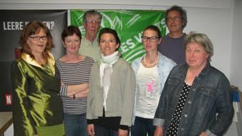 Referentin Amira Hafner-Al-Jabaji umrahmt vom Vorstand (v.l.) Siv Lehmann, Iris Schelbert, Paul Edel, Amira Hafner-Al-Jabaji, Anna Engeler, Jonas Himmelreich, Beate Hasspacher (es fehlt Myriam Frey).