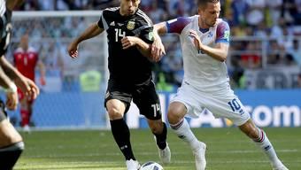 Javier Mascherano (links) bestritt sein 144. Länderspiel für Argentinien
