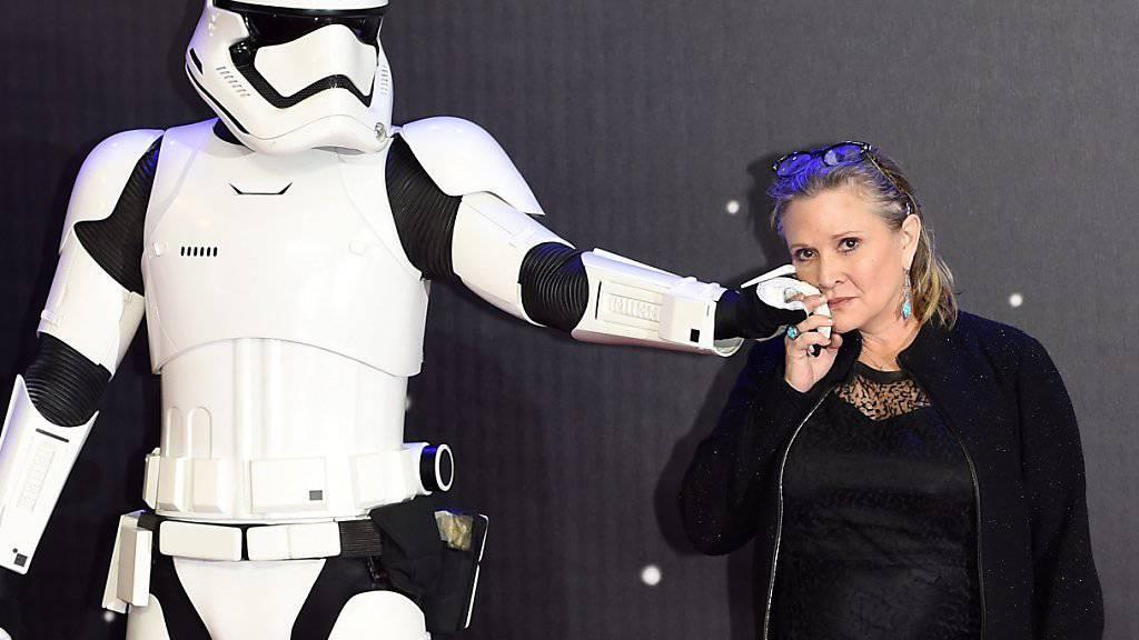 «Star Wars»-Schauspielerin Carrie Fisher verrät: Sie hatte etwas mit Harrison Ford. (Archivbild)