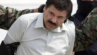 "Ihm droht lebenslange Haft: Der mexikanische Drogenboss Joaquin ""El Chapo"" Guzman wurde im Februar in den USA wegen Drogenschmuggels, Waffenhandels und Geldwäscherei schuldig gesprochen. (Archivbild)"