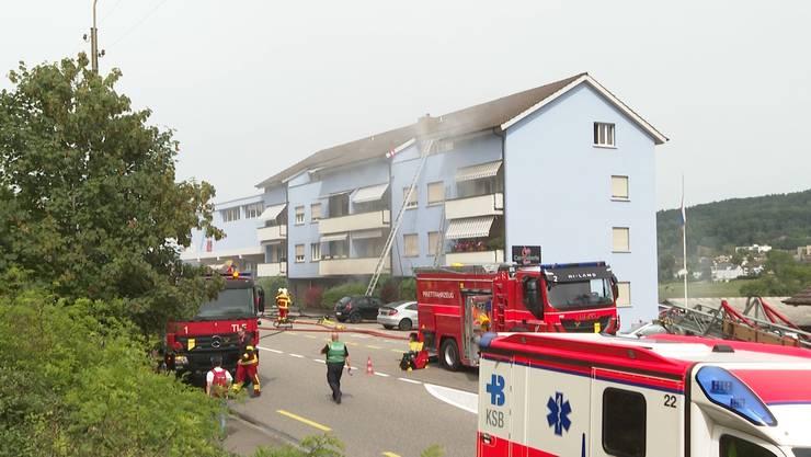 In Turgi brennte es am Dienstag in einem Keller eines Mehrfamilienhauses.