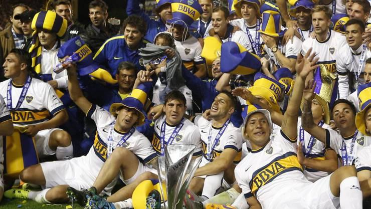Grosser Jubel bei Boca Juniors Buenos Aires nach dem Meistertitel