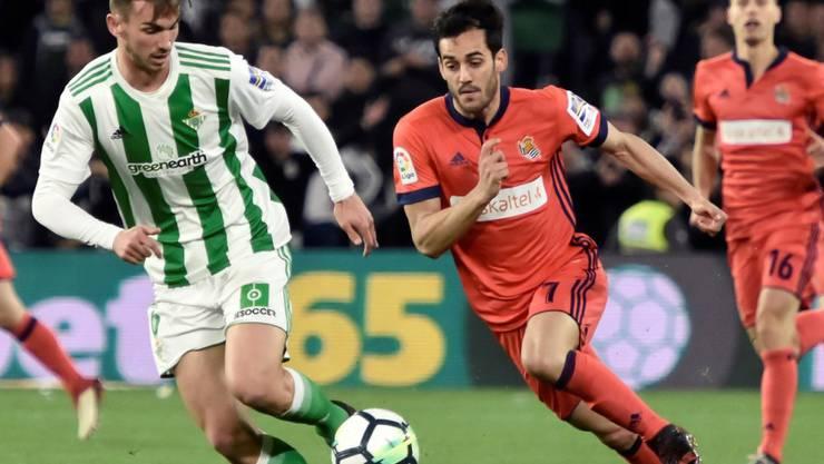 Stürmer Juanmi (rechts) traf gegen Atlético zweimal