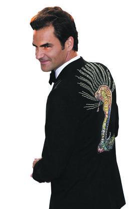 An der Met-Gala im Mai 2017 in New York zog der Tennisstar alle Blicke auf sich. Auf dem Rücken seines Gucci-Smokings prangte eine Glitzer-Kobra.