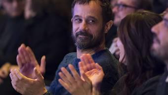 """Der oscarnominierte Regisseur Claude Barras bei der Nacht der Nominationen der 52. Solothurner Filmtage, am Mittwoch, 25. Januar 2017. Wird sein Animationsfilm """"Ma vie de Courgette"""" heute den Schweizer Filmpreis Quartz erhalten?"""