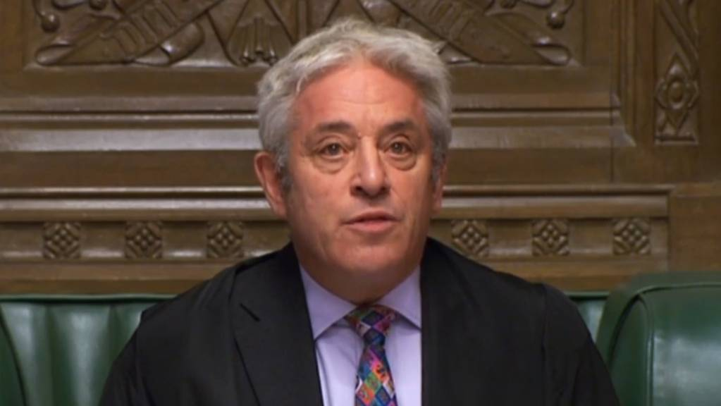 Parlamentspräsident John Bercow liess eine Abstimmung über den Brexit-Deal am Montag im britischen Unterhaus nicht zu.