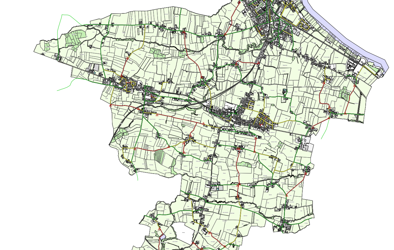 Grüne Strassen werden schwarz geräumt, rote Strassen werden nicht geräumt. (Bild: egnach.ch)