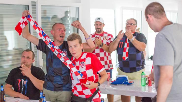 Nach dem Schlusspfiff flossen ein paar Tränen, trotzdem sind die Fans stolz auf die kroatische Nationalmannschaft.