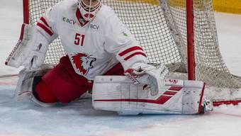 Für den bisherigen Leader nicht zu bezwingen: Lausanne-Goalie Tobias Stephan