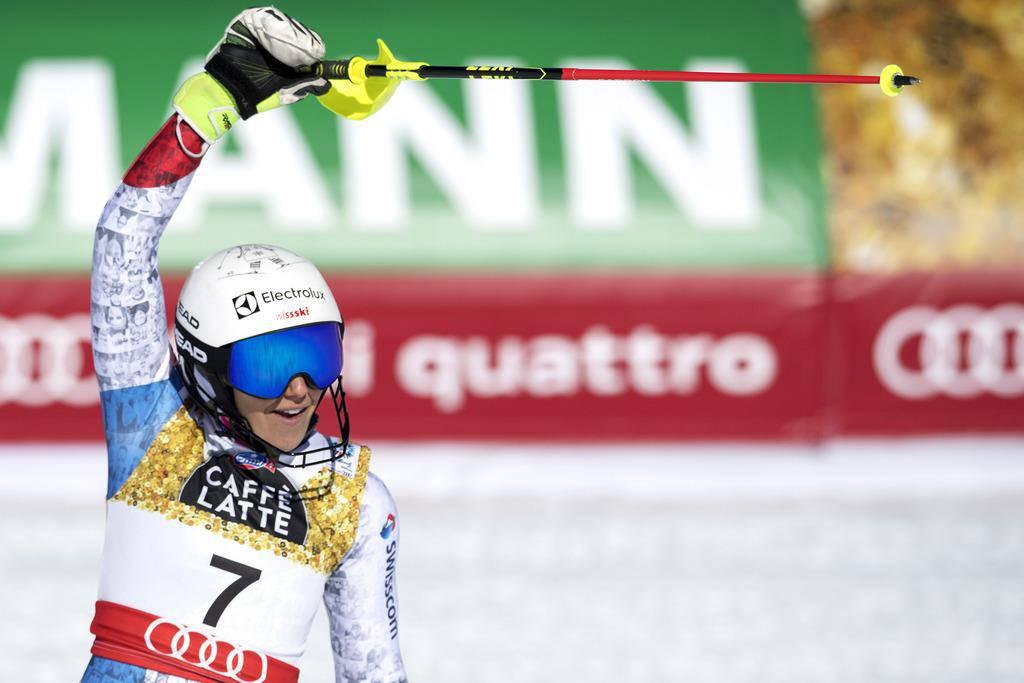 Wendy Holdener gewinnt Silber im Slalom (© Keystone/Peter Schneider)