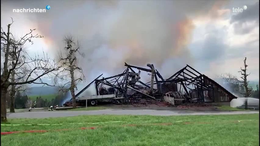 Brand Bauernhof in Ruswil
