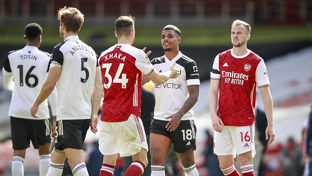 Granit Xhaka muss sich mit Arsenal gegen Fulham mit einem 1:1 begnügen