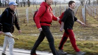 Christophe Darbellay (m.) und Yannick Buttet (r.)
