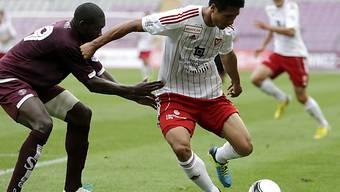 Pak Kwang-Ryong (r.) gelang gegen Servette das 1:0