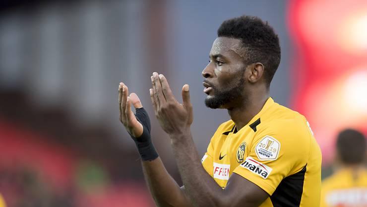 Jean-Pierre Nsame war mit drei Toren der YB-Matchwinner in Sitten