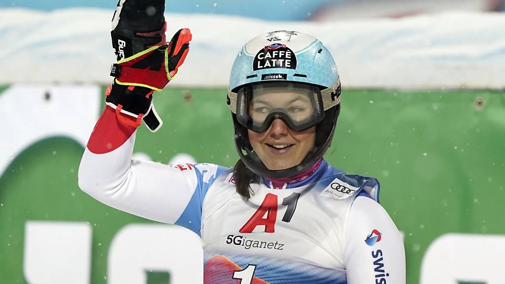 Wendy Holdener sicherte sich ihren ersten Podestplatz in diesem Winter.