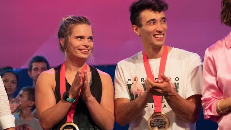 Marco Müller jubelt zusammen mit Astrid Sibon.