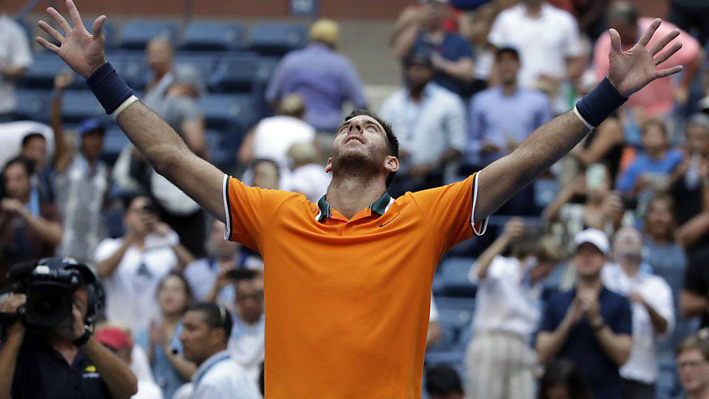 Juan Martin del Potro trotzte am US Open der Hitze und seinem Gegner John Isner und qualifizierte sich erneut für die Halbfinals