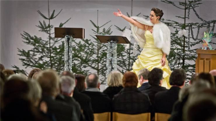Barbara Buhofer am Konzert in der reformierten Kirche in Reinach.