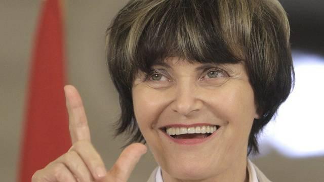 Bundespräsidentin Micheline Calmy-Rey (Archiv)