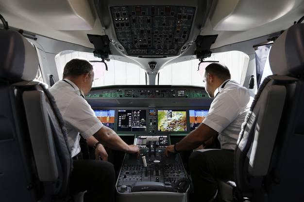 Ein Blick ins Cockpit der Swiss C Series.