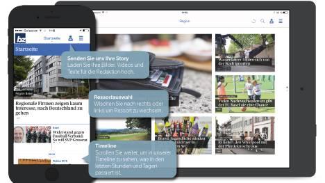 Die neue BZ-App fürs Smartphone und Tablet.