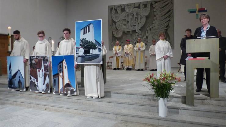 Die vier Kirchengemeinden gaben am feierlichen Errichtungsgottesdienst ein Bekenntnis zum Pastoralraum Möhlinbach ab.