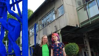 Kunst ist ihr Leben und ihr Leben ist Kunst: Volker Scheurer und Ania Dziezewska im Kieswerk. Susanna Petrin