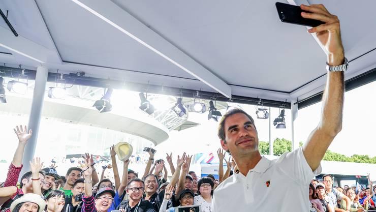 Roger Federer erfreut sich auch in China grosser Popularität.