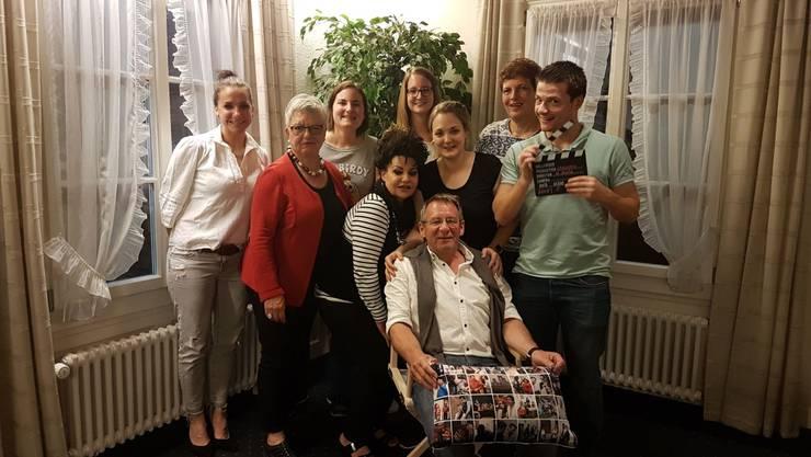 Abschiedsfoto Marcel Stutz mit aktuellen Vereinsmitglieder