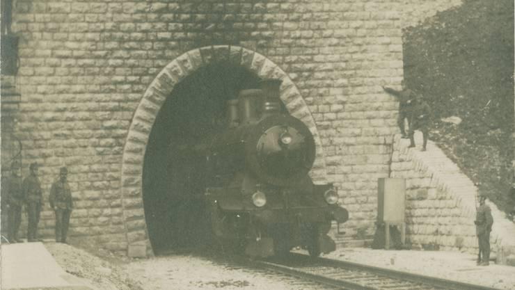 Während des Ersten Weltkrieges wurde das Tunnelportal von Militärpersonal bewacht. (Archiv)