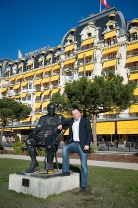 Der russische Immobilienmakler Sergey Sander am 7.1.2014 in Montreux.