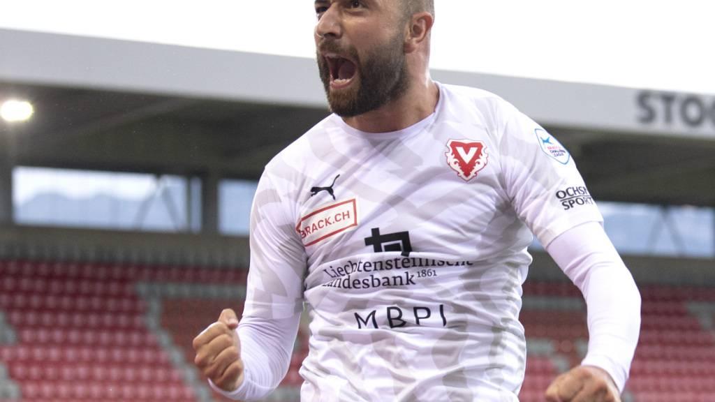 Tunahan Cicek, Kämpfer im Tenü des FC Vaduz - und neuerdings auch wieder Torschütze
