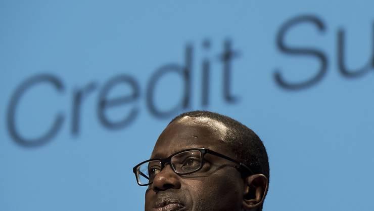 Die Credit Suisse verliert unter CEO Tidjane Thiam Bonitätsnote. (Archivbild)