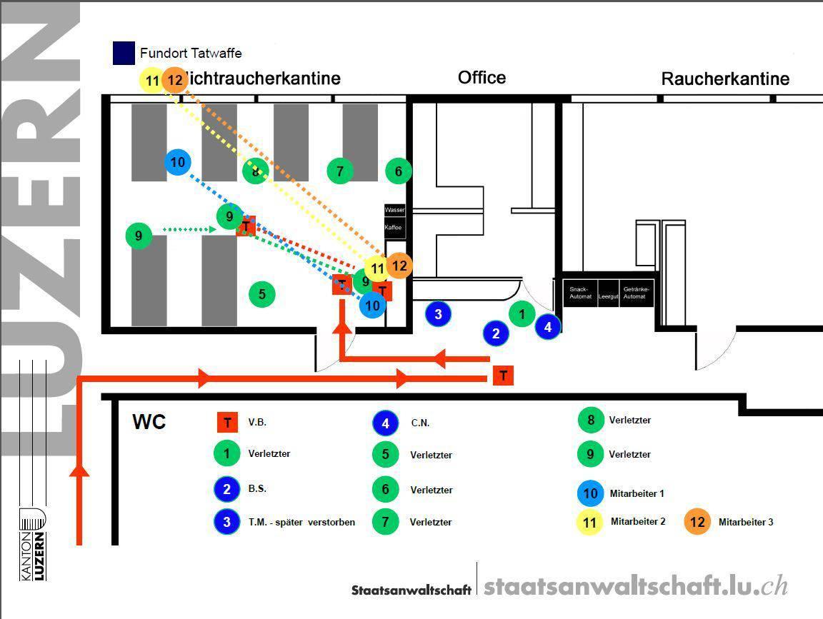 So lief die Bluttat in der Firma Kronospan gemäss der Luzerner Staatsanwaltschaft ab.