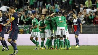 St-Etienne führte gegen Paris St-Germain bis zur 94. Minute mit 2:1