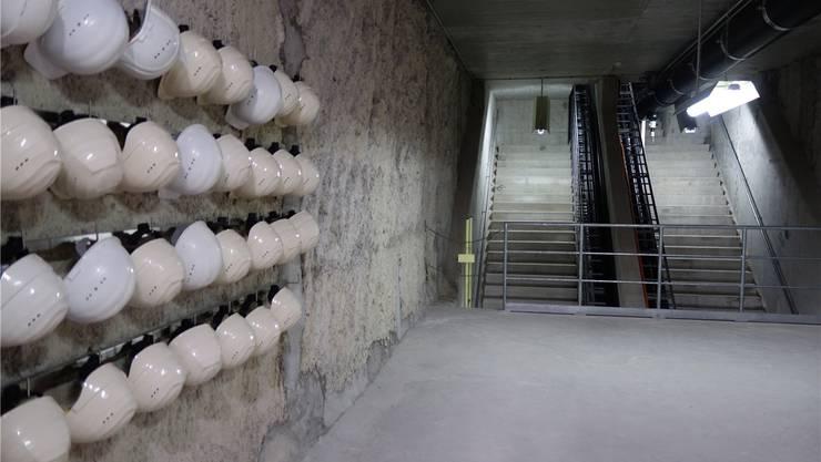 Der Techniktunnel unter dem Rhein in Basel.