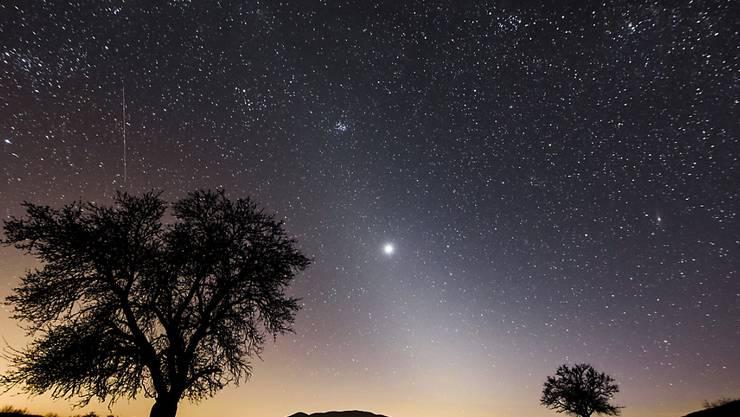 Auf dem Planeten Venus, der am Firmament hell erstrahlt, sind Spuren von Monophosphan  entdeckt worden. Die US-Raumfahrtbehörde Nasa spricht vom bisher grössten Fortschritt bei der Suche nach möglichem ausserirdischen Leben. (Archivbild)