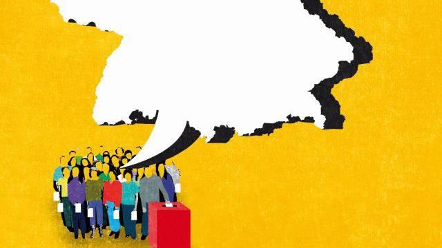 Der Ruf von Parteien und Bürgerbewegungen nach nationalen Volksentscheiden wird in Deutschland lauter. Foto: Der Ruf von Parteien und Bürgerbewegungen nach nationalen Volksentscheiden wird in Deutschland lauter. Foto: ps-Illustration