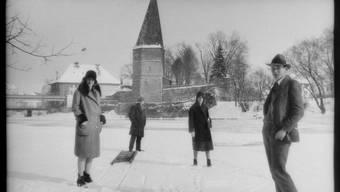 Frozen Solothurn: die Aaregfrörni von 1929.