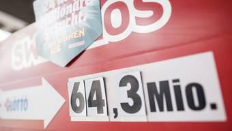 64,3 Millionen Franken sind heute im Jackpot.