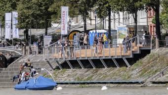 Einweihung Rheinterrassen