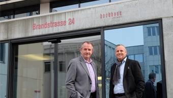 Albert Schweizer, Standortförderer der Stadt Schlieren, und André Brühlmann vom Institut für Jungunternehmen.