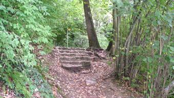Die stark in Mitleidenschaft gezogene Treppe wird ersetzt.