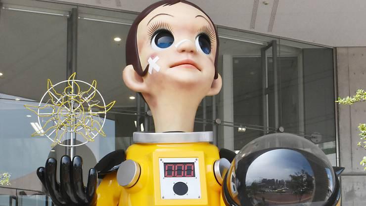"""Kommt nicht gut an: Die Statue """"Sun Child"""" von Künstler Kenji Yanobe soll in Fukushima für neue Hoffnung stehen."""