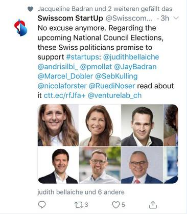 Der Swisscom-Tweet des Anstosses. (Screenshot: CH Media)
