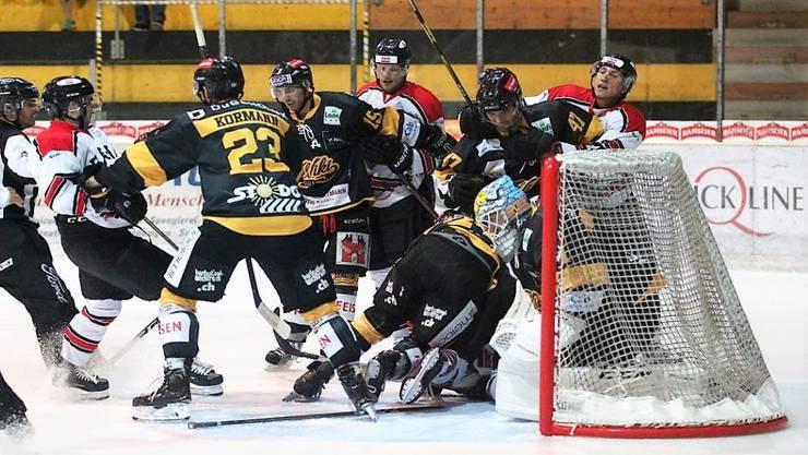 Der EHC Basel gewinnt auch in Münsingen.