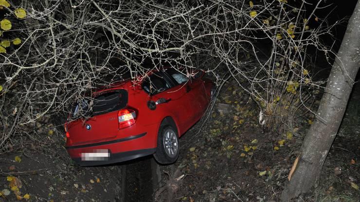 Eine 49-jährige Autofahrerin verliert in Härkingen die Kontrolle über ihr Fahrzeug. Sie gerät neben die Fahrbahn, kollidiert mit einer Strassenleiteinrichtung und fährt schliesslich in einen Bach, wo sie frontal in einen Baum prallte.